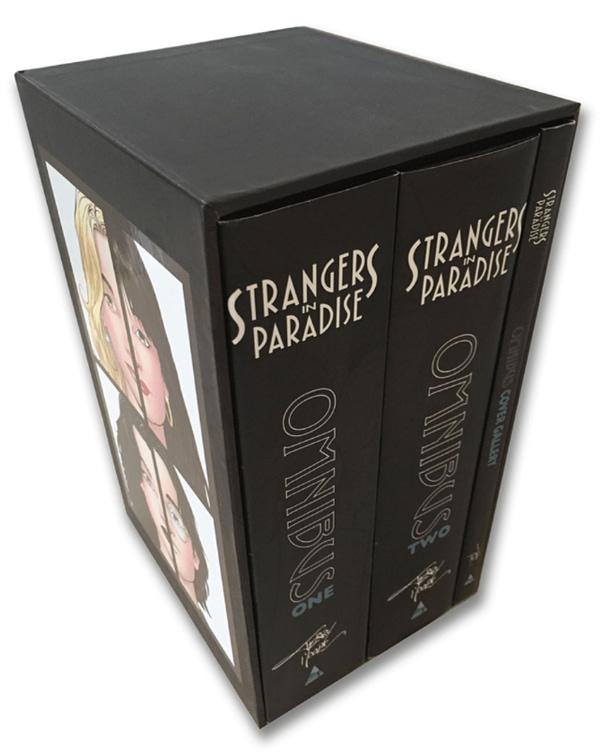 Strangers in Paradise hardcover omnibus set. Credit: Abstract Studio.
