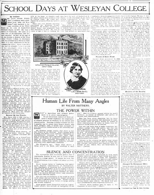 Lev Gleason family history from The Cincinnati Enquirer, May 22, 1921. Clipping via Newspapers.com.