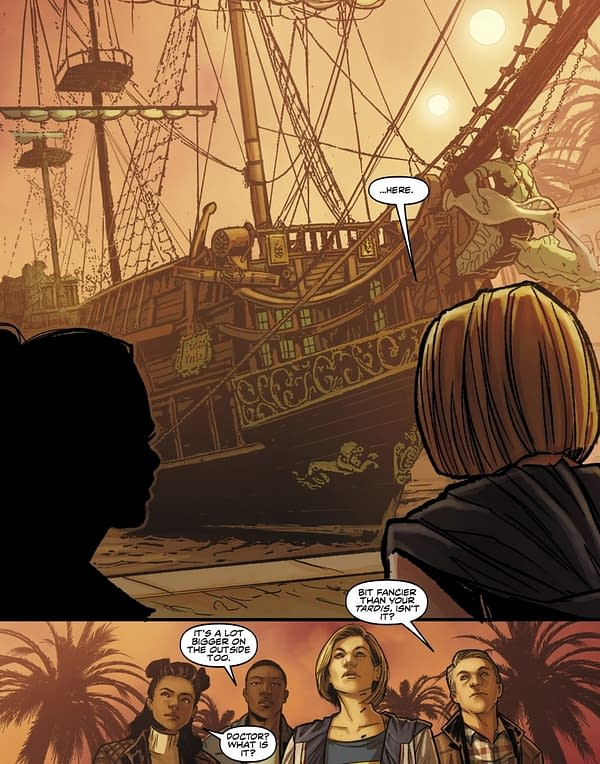Jody Whittaker's Doctor Meets The Corsair in Titan's Doctor Who Comics