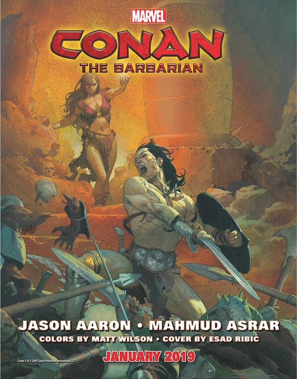Marvel to Publish 3 Ongoing Conan Comics – The Barbarian, Savage Sword Of and Age Of…