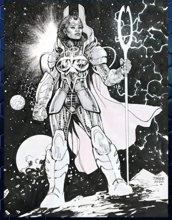 Jim Lee Creates Superhero Venus Based On Venus Williams at DC Fandome
