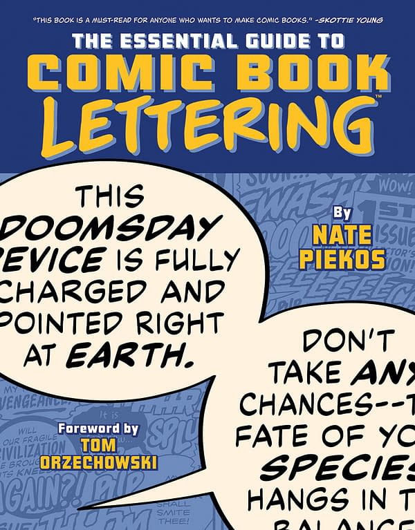 The cover to The Essential Guide to Comic Book Lettering