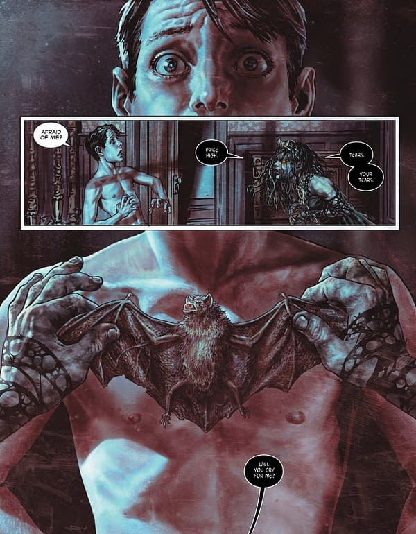 One Page Preview of Batman Damned #2 by Brian Azzarello and Lee Bermejo