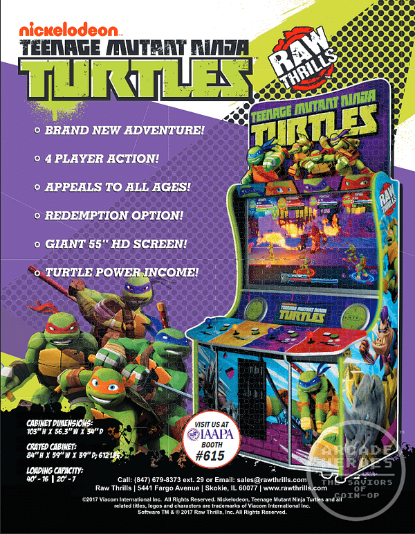 We're Getting A New TMNT Arcade Game Debuting At IAAPA