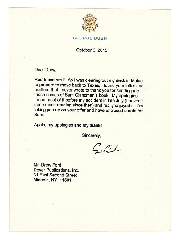 Letter from George Bush