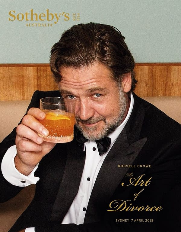 """Russell Crowe is Holding an Auction via Sotheby's Called """"The Art of Divorce"""""""