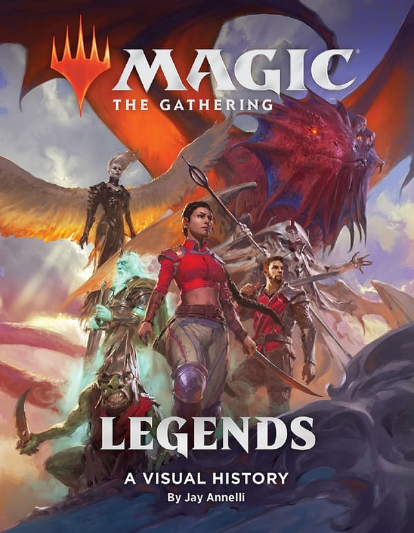The cover of Magic: The Gathering: Legends: A Visual History, courtesy of WotC.