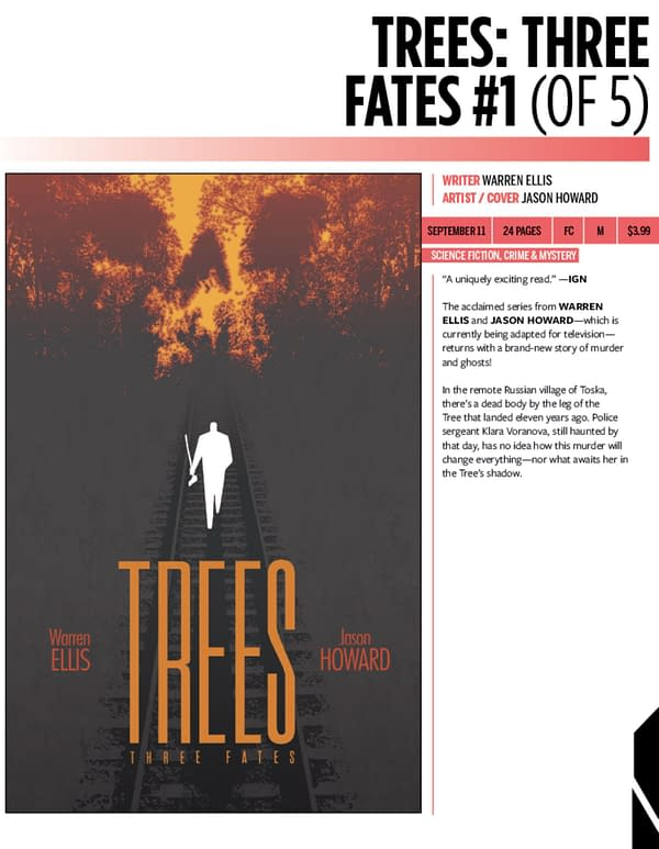 Warren Ellis and Jason Howard's Trees: Three Fates Coming in September