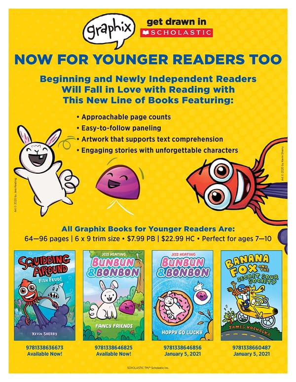 Scholastic Graphix Expands to Draw Younger Readers