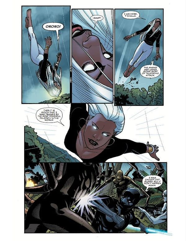 Art to Black Panther #17, penciled by Chris Sprouse