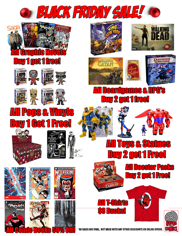 Over 200 Comic Stores Running Black Friday 2017 Deals Today