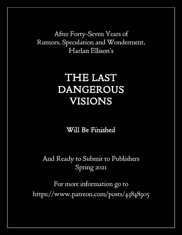 "The Last Dangerous Visions: JMS Prepares ""Lost"" Harlan Ellison Book"