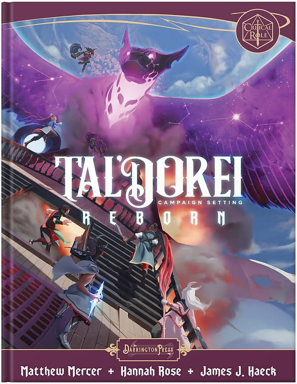 A look at the cover of Tal'Dorei Campaign Setting Reborn., courtesy of Darrington Press.