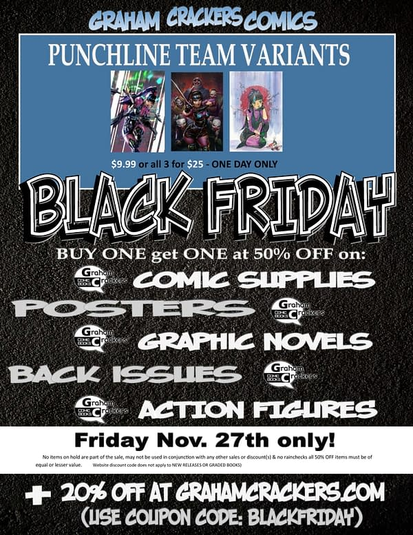 Black Friday Sales For Comic Book Stores