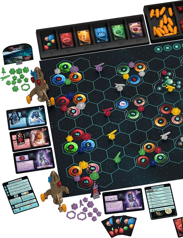 A look at the game's contents, courtesy of Catan Studio.