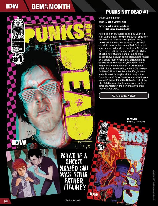 IDW February 2018 Solicits: The One Reprinted, Punk's Not Dead Launching, Jim Starlin Artifact Edition