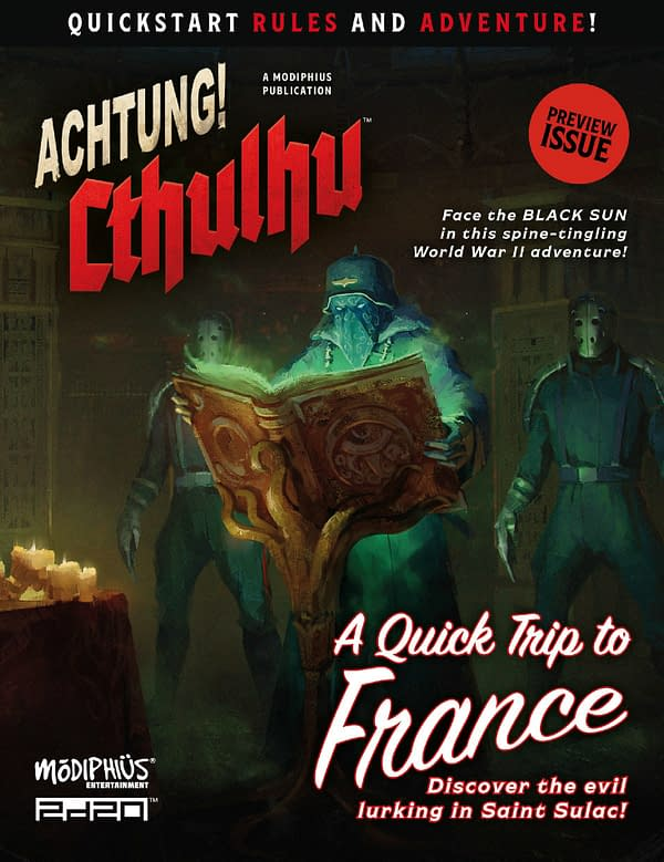 Modiphius Entertainment Releases Quickstar Rules For Achtung! Cthulhu