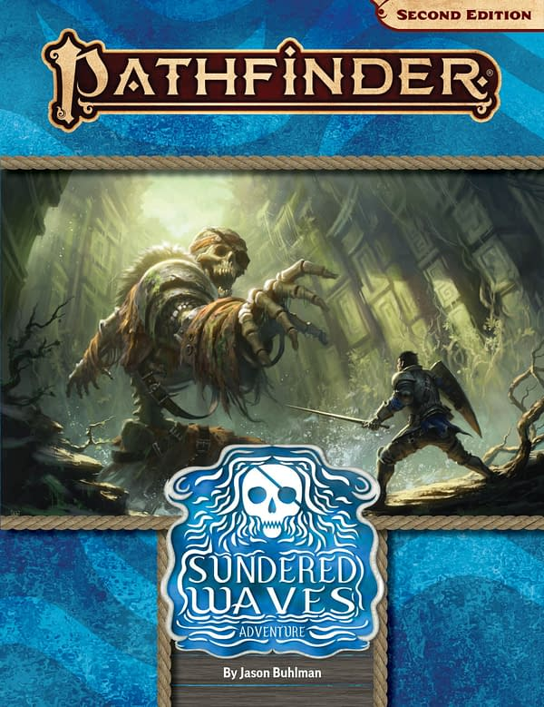 A look at the cover for Sundered Waves, courtesy of Paizo.