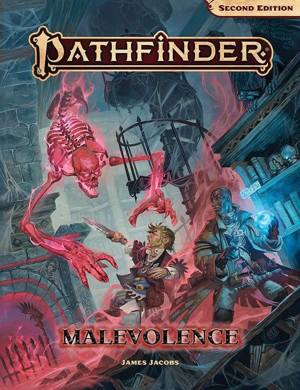 The cover for Malevolence, a new horror-themed Adventure module for Paizo's fantasy role-playing game, Pathfinder.