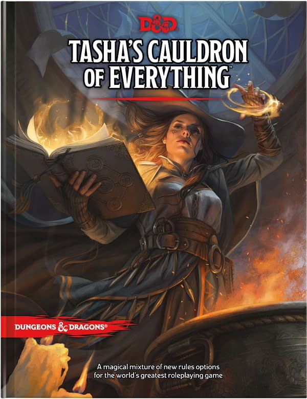 A look at the cover of Dungeons & Dragons: Tasha's Cauldron Of Everything. Courtesy of Wizards of the Coast.