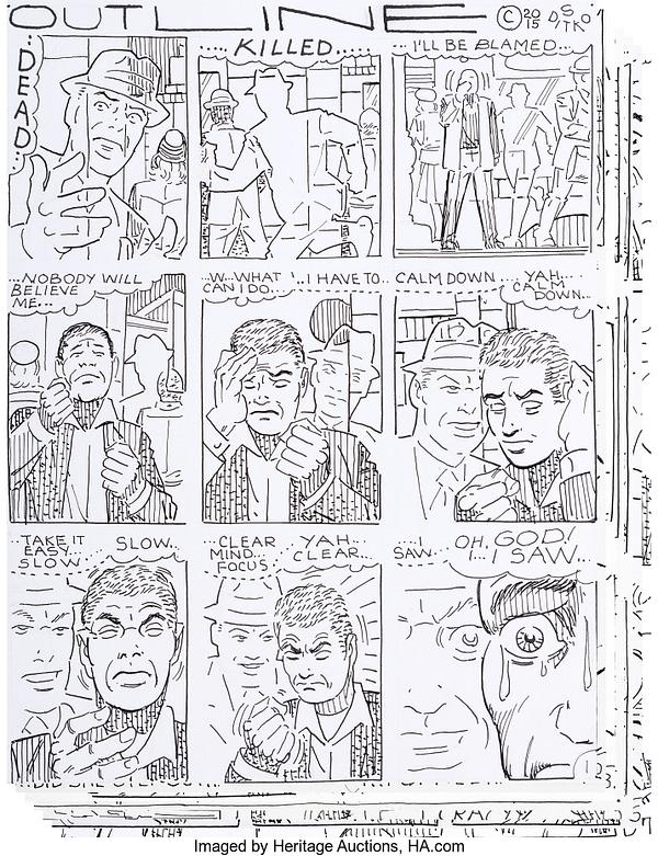 Steve Ditko's Original Art When Spider-Man Lost His Specs, At Auction