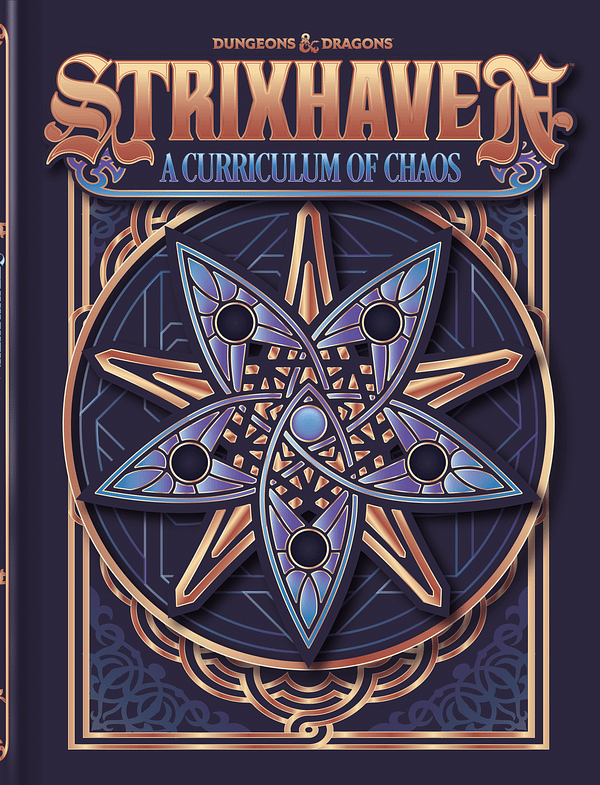 The alternative cover for Dungeons & Dragons - Strixhaven: A Curriculum Of Chaos. Courtesy of Wizards of the Coast.