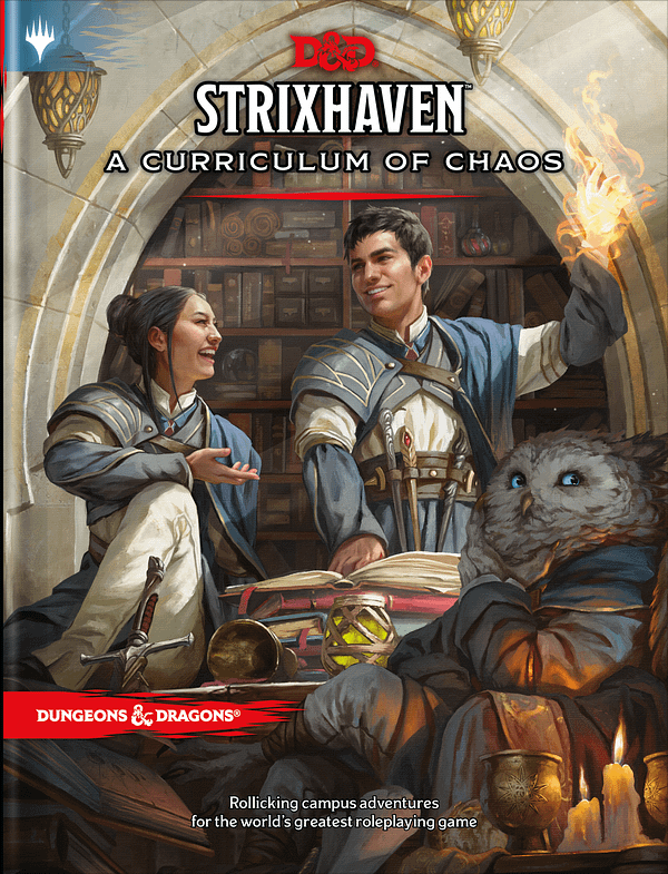 The main cover for Dungeons & Dragons - Strixhaven: A Curriculum Of Chaos. Courtesy of Wizards of the Coast.