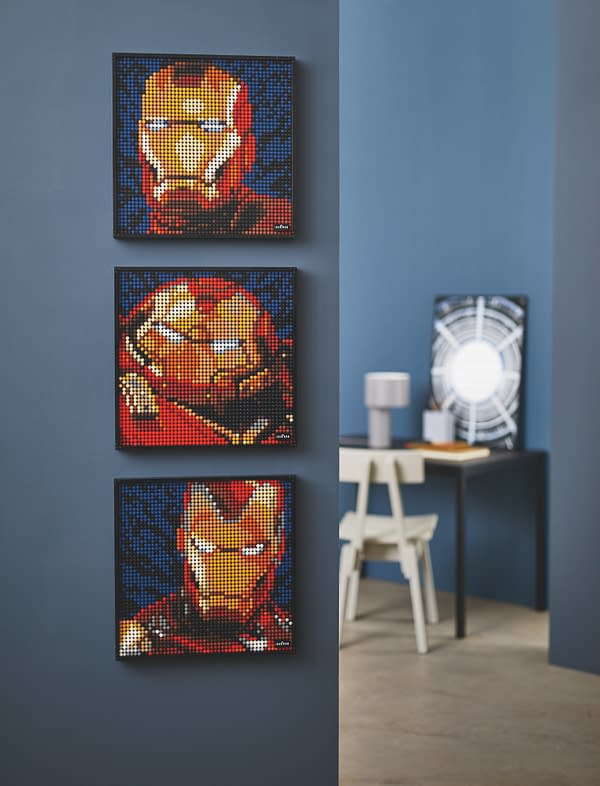 Iron Man Gets an Exclusive Buildable Wall Art Set with LEGO