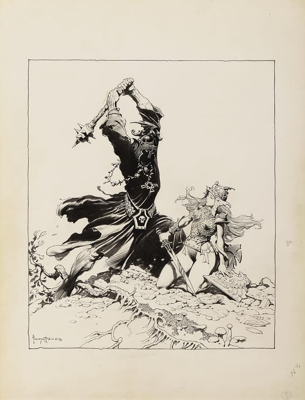 (FRAZETTA) LORD OF THE RINGS-- _THE BLACK NAZGUL_