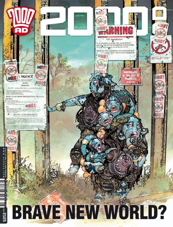 2000AD Recreates Trump's Border Wall for Immigration Satire, This Wednesday