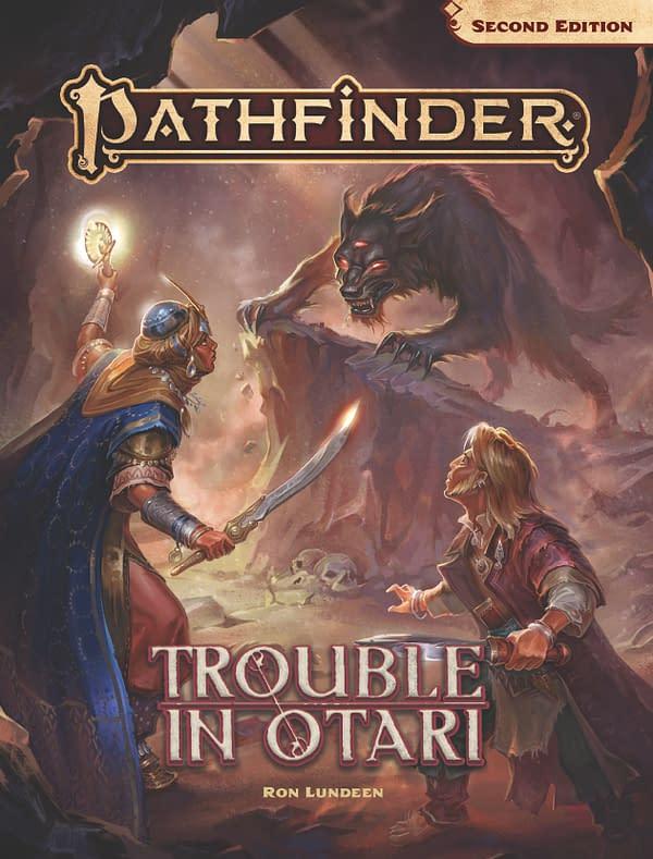 Cover for the Pathfinder adventure Trouble In Otari, courtesy of Paizo.
