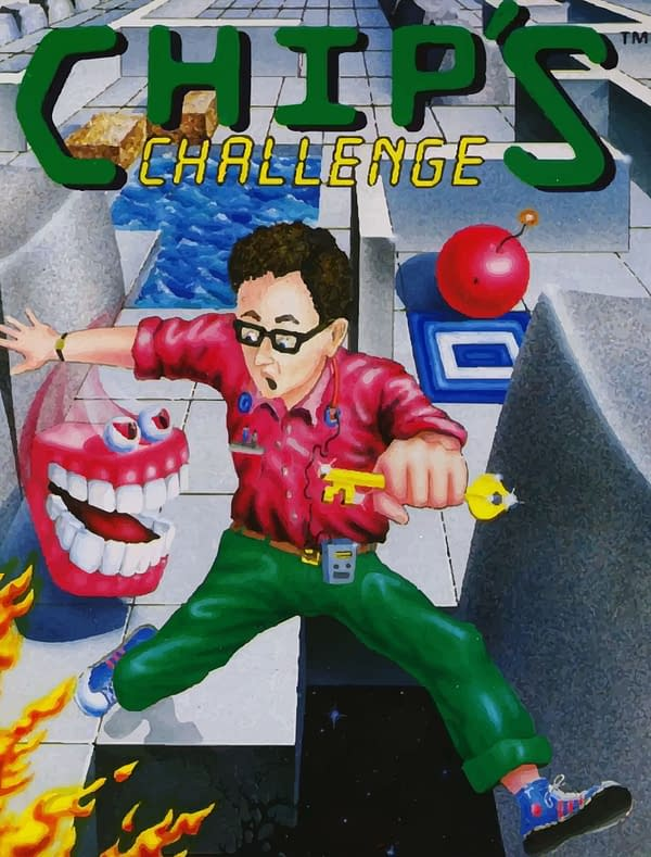 Key art for the retro puzzle game Chip's Challenge, to be re-released soon by indie publisher The Retro Room Games.