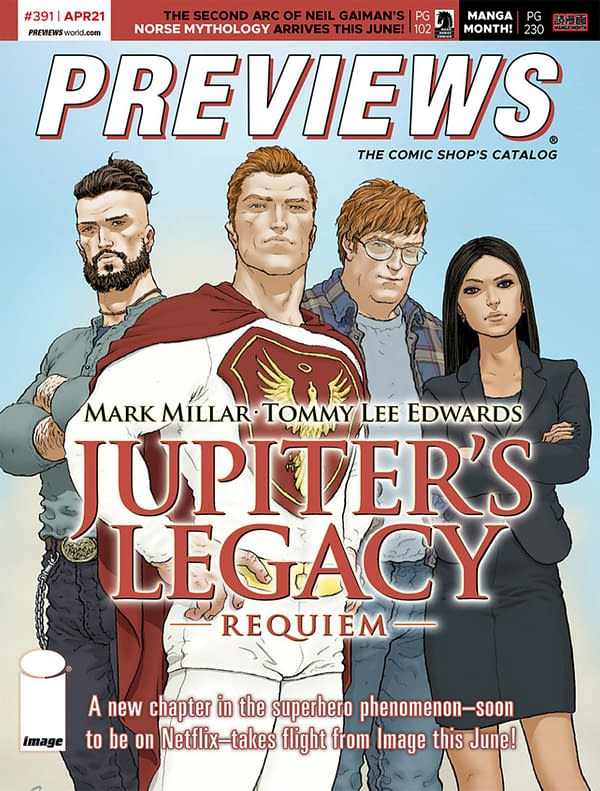 Jupiter's Legacy & Boba Fett On Next Week's Previews Catalogue Covers