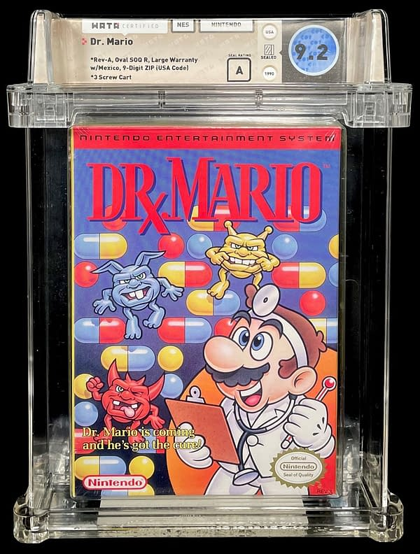 Dr. Mario Graded NES Game Up For Auction At Comic Connect
