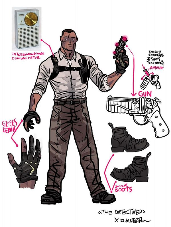 Lemire, Kindt and Rubín Add Playing Cards to Cosmic Detective OGN.