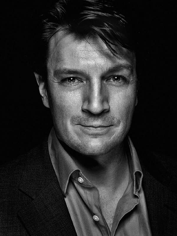 Nathan Fillion serves as the protagonists for Amazon's Starfinder game. Photo credit: Allan Amato.