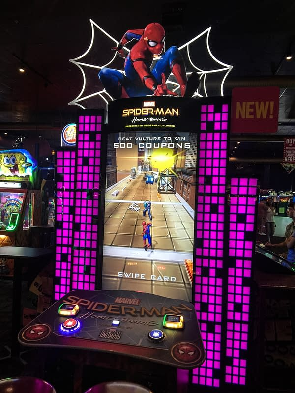 Arcade Chaser: Spider-Man Homecoming Game By Adrenaline Amusements