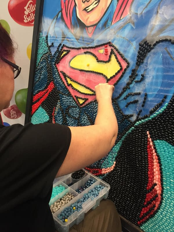 Nerd Food: Superhero Jelly Belly Art Comes To Life At New York Comic Con 2017!