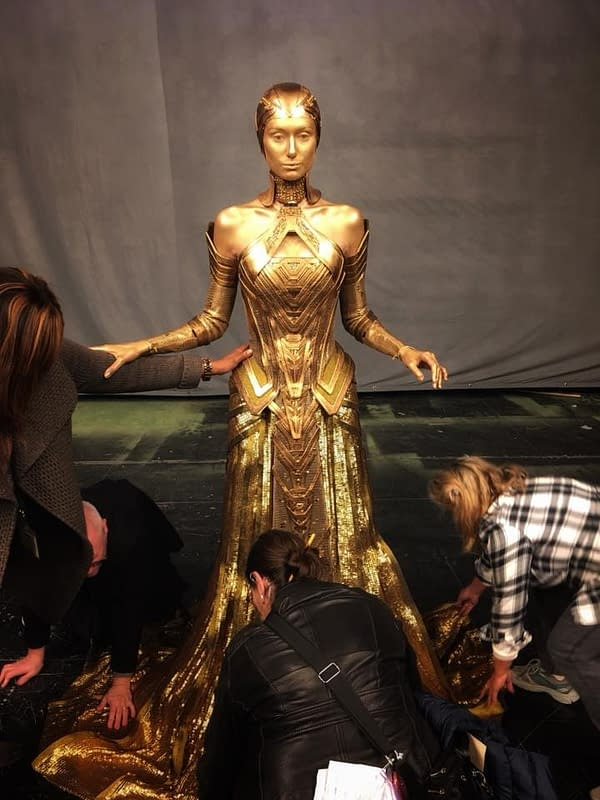 James Gunn Posts The Ayesha Dress Process From Guardians Of The Galaxy Vol. 2