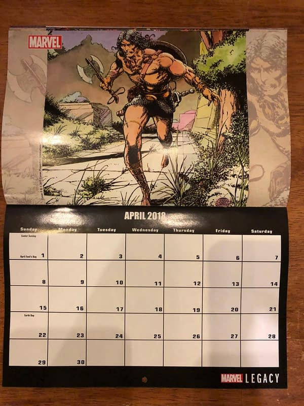 Marvel 2019 Calendars Coming to Comic Stores Who Order Enough Fantastic Four #5