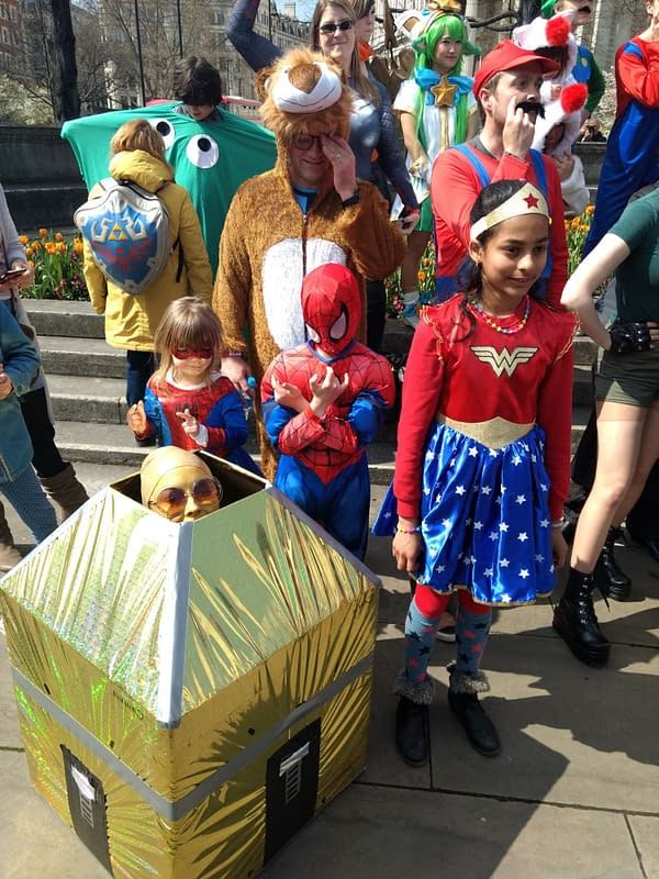 A Gaming Parade Held Under St Paul's Cathedral