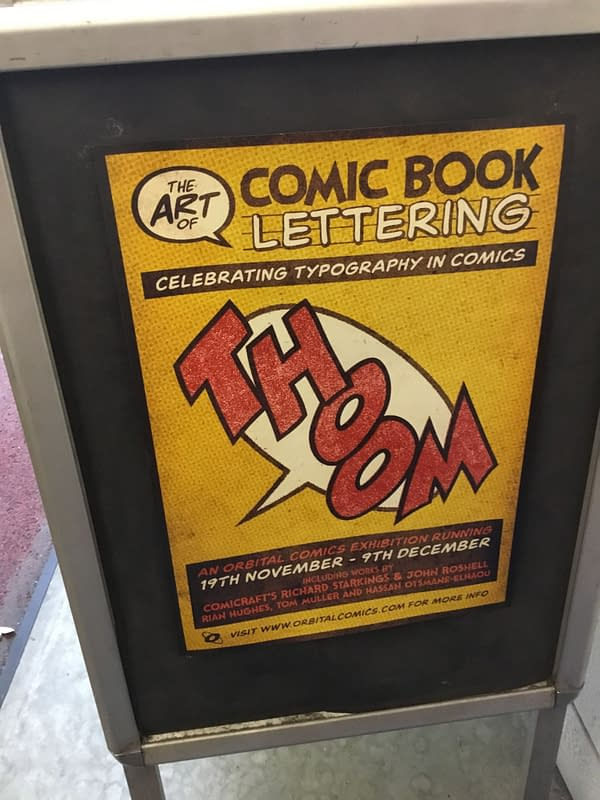 Orbital Comics of London Runs a Gallery on Comic Book Lettering