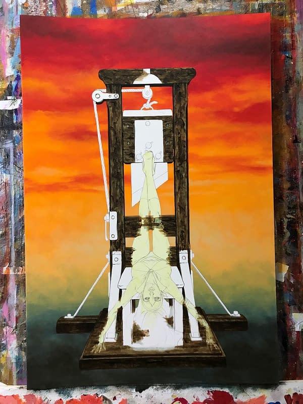 How Joe Jusko Painted the Cover for Vampirella #1…
