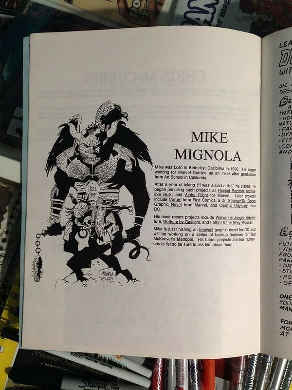 Mike Mignola's First Hellboy From 1991 Sells For $5000 on eBay