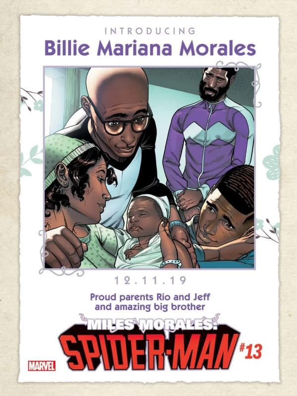 Marvel Comics Send The Birth Of Miles Morales Little Sister Back to a Scond Prining