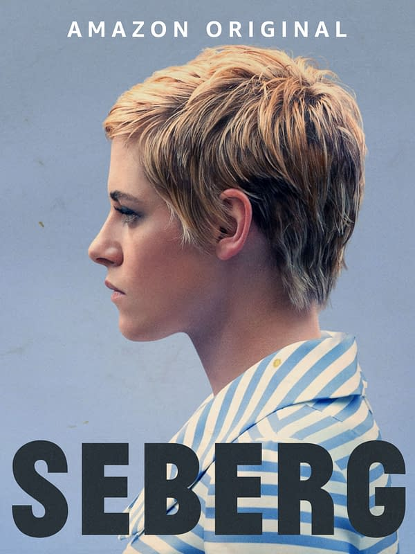 Kristen Stewart in Seberg which hits Amazon Prime May 15th. Credit Amazon