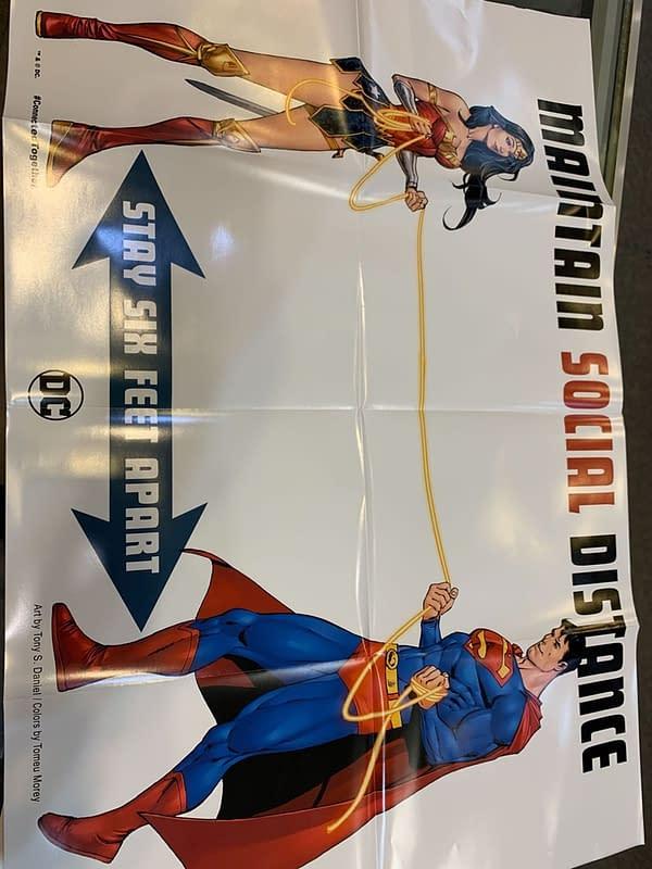DC Comics Sends Social Distancing Posters to Comic Stores.