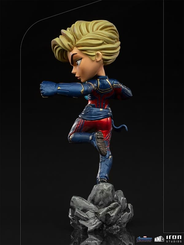 Captain Marvel From Endgame Arrives With New Iron Studios Minico