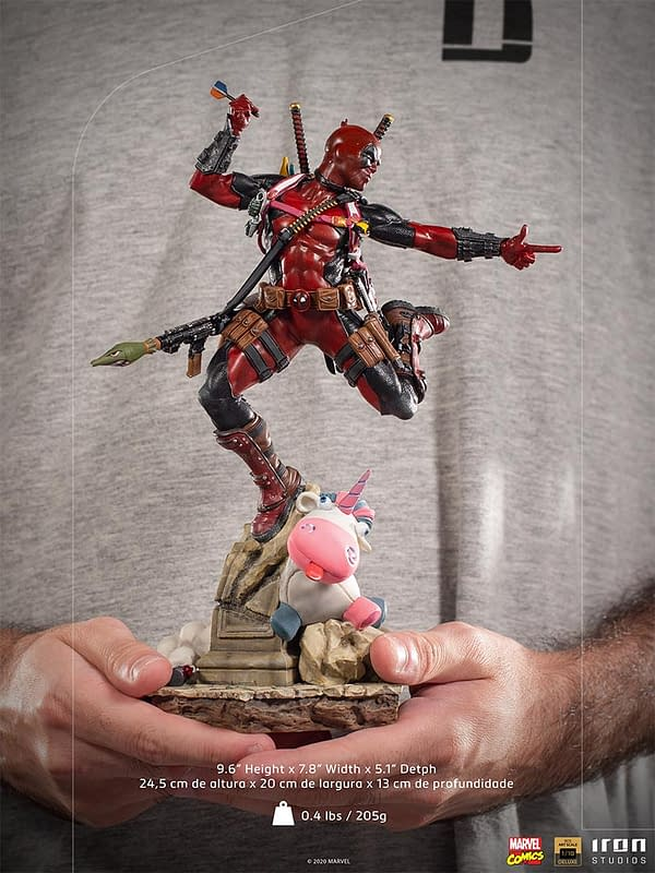 Deadpool To The Rescue with New Iron Studios Statue