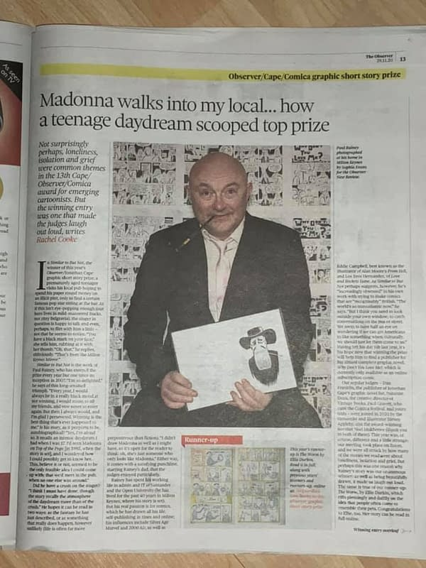Paul B Rainey Wins Observer Jonathan Cape Prize After Meeting Madonna
